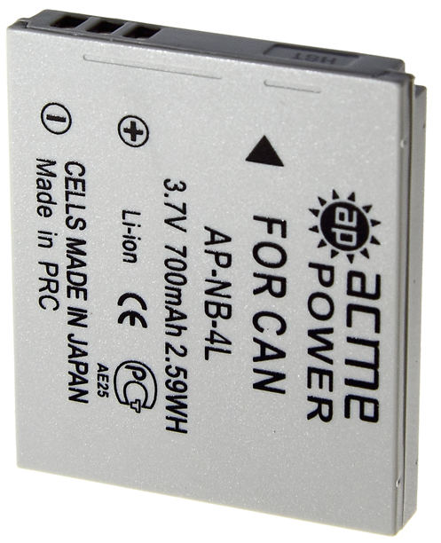 AcmePower NB-4L 700mAh