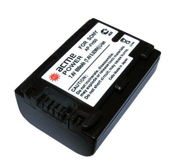AcmePower NP-FH50 800mAh