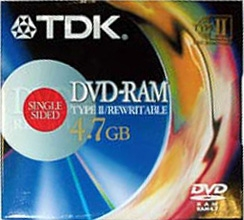 TDK DVD-RAM 4.7GB Jewel c картриджем