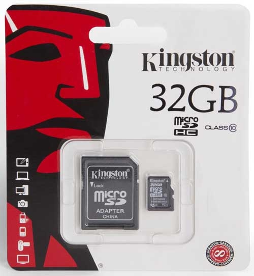 32 GB micro-SDНС Class 10 Kingston