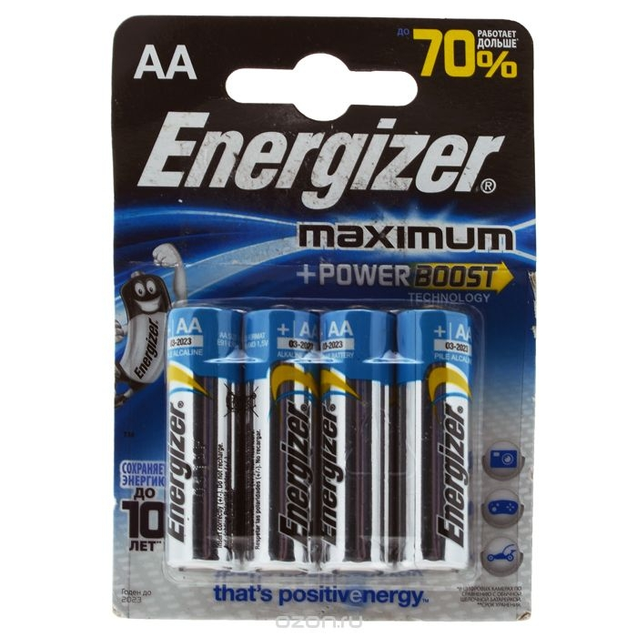 LR6 батарейка 4BL Alkaline Maximum Energizer