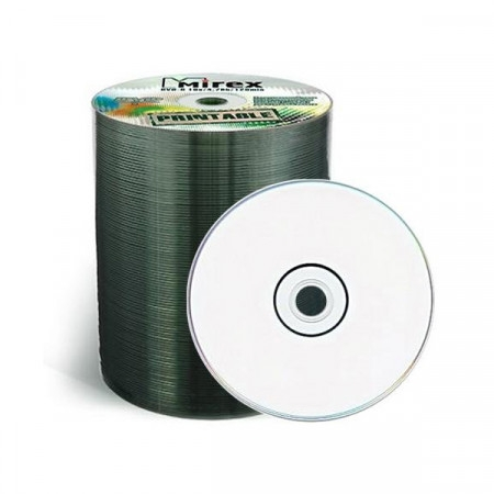 диск Mirex DVD+R 4.7 Gb 16x bulk 100 *Printable*